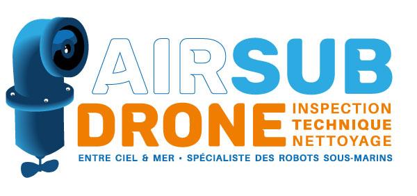 Logo AIRSUB Drone, spécialité ROV et drone